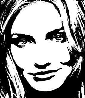 Чёрно-белый эскиз в Фотошопе